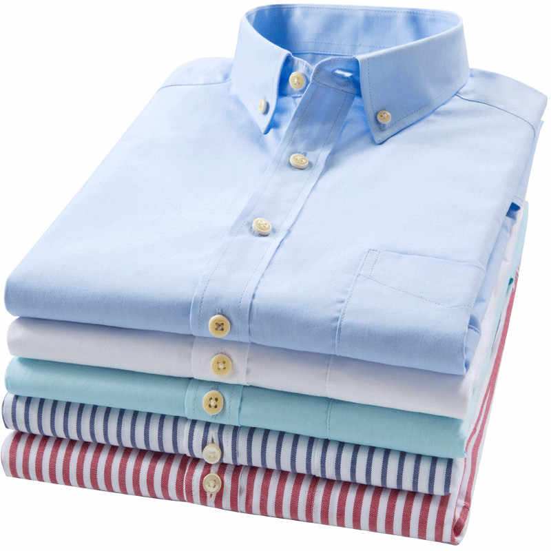 Красная маленькая Клетчатая Мужская рубашка из чистого хлопка, тонкая летняя мягкая рубашка с короткими рукавами, Высококачественная полосатая офисная одежда, мужская брендовая одежда
