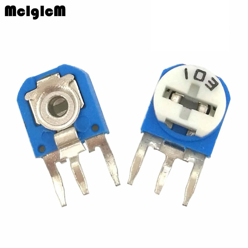 RM063 (blue white) blue and white can be adjusted resistance potentiometer 100 1K 2K 5K 10K 20K 50K 100K 200K 500K 1M ohm-in Potentiometers from Electronic Components & Supplies