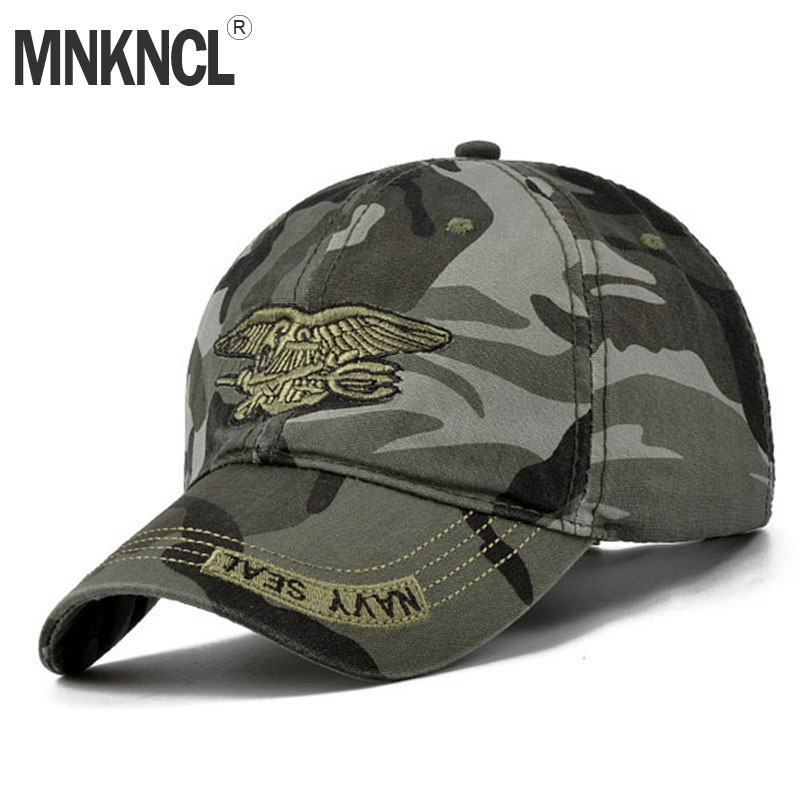 2018 New Fashion Summer Men's Navy Seal Adjustable Camouflage Cotton Canvas Baseball Cap Sun Hat Outdoors Casual Snapback Caps cntang brand summer lace hat cotton baseball cap for women breathable mesh girls snapback hip hop fashion female caps adjustable
