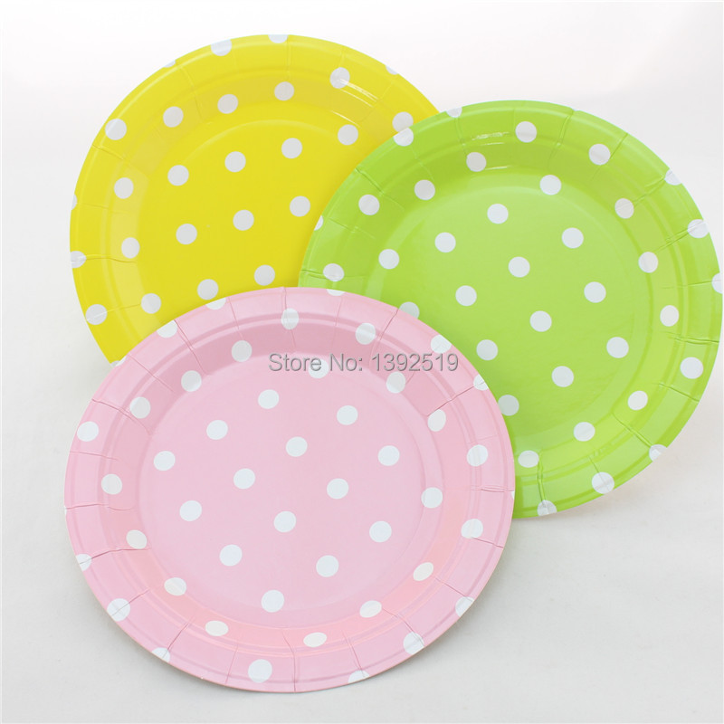 Free Shipping 48pcs Baby Pink Paper Plates Retro Party Plates 7  Round Polka Dot Plates-in Disposable Party Tableware from Home u0026 Garden on Aliexpress.com ... & Free Shipping 48pcs Baby Pink Paper Plates Retro Party Plates 7 ...