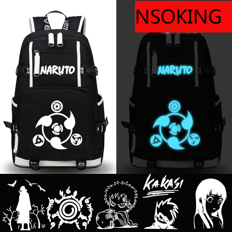 Naruto Backpack Cosplay Sharingan Gaara Anime Canvas Bag Luminous Schoolbag Travel Bags клавиша смыва geberit delta 50 белая 115 135 11 1