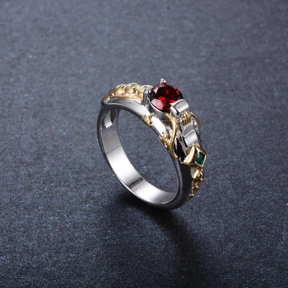 LOL Maters ювелирные изделия Taric Ezreal Хада Джин кольцо с камнем большое кристаллическое кольцо герои тематическое Ювелирное Украшение Janna Kindred Azir Ashe кольцо