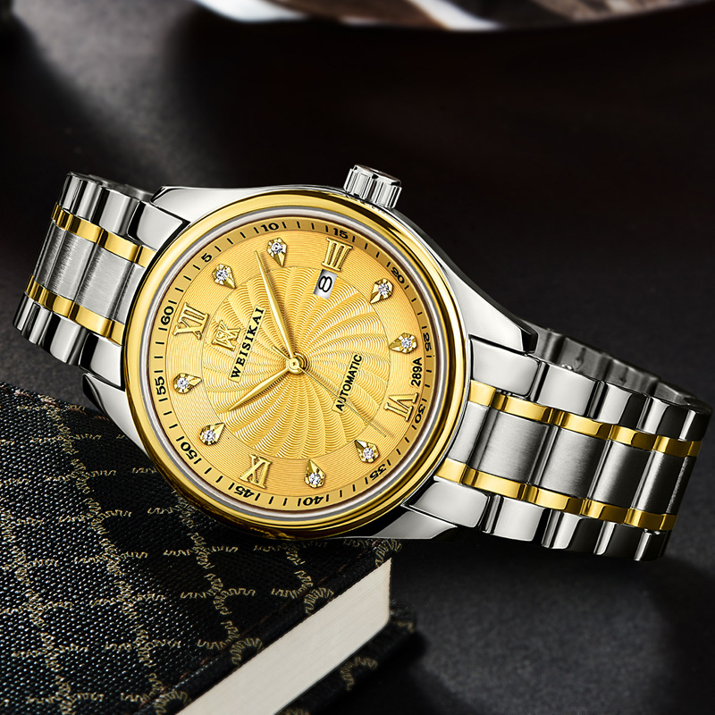 WEISIKAI New Famous Brand Luxury Big Windmill Men font b Watch b font Automatic Mechanical Crystal