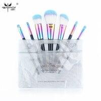 Anmor 7 Piece Professional Makeup Brushes Set With Transparent Makeup Bag CF 736