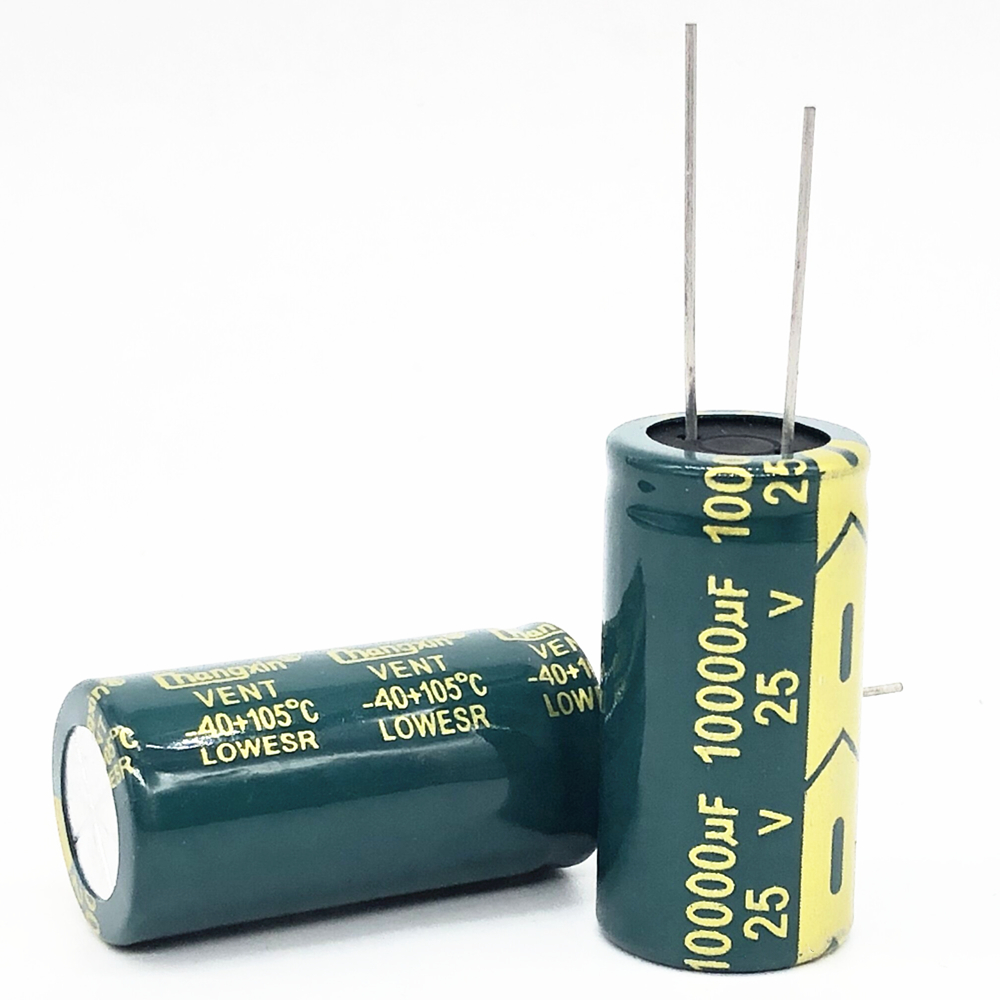 1Pcs 25V 10000UF 18*35 Low ESR High Frequency Aluminum Electrolytic Capacitor 10000uf 25v 20%