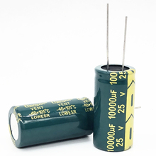 High-Frequency Electrolytic-Capacitor 25v 10000uf Low-Esr 1pcs Aluminum 18--35 20-%