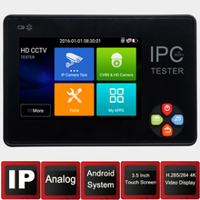 IP Camera tester3.5 inch IPS Screen H.265 4K IP CCTV test Monitor Analog tester  IP camera tester Security camera system