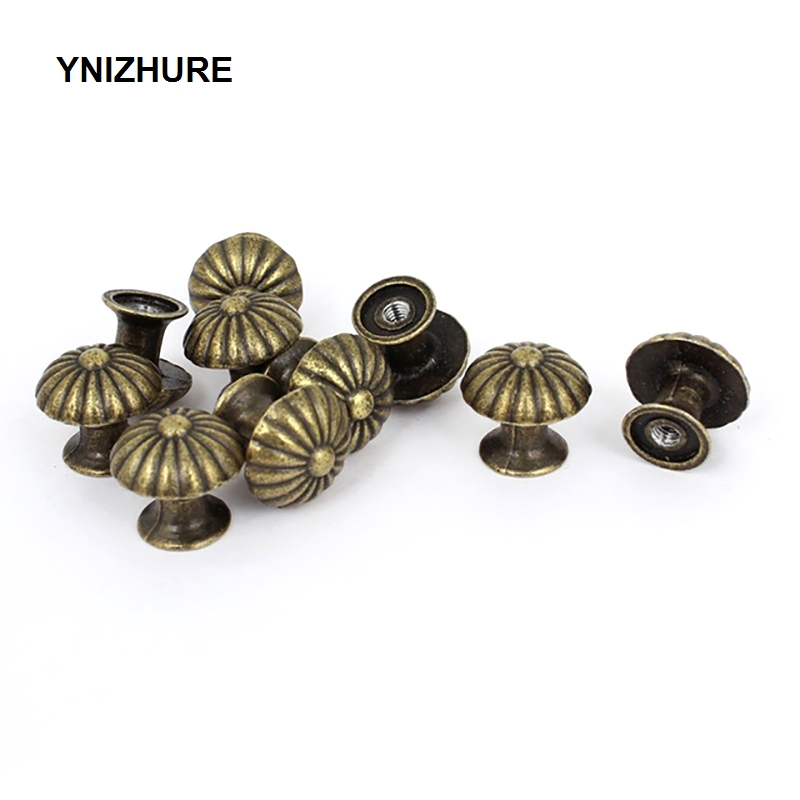 10PCS 18*17MM Vintage Small Case Cabinet Cupboard Drawer Pull Handle Dome Knob Jewelry Box Mini Decorative Knobs Bronze megairon vintage style twig tree branch cabinet knob drawer pull handle cupboard hardware knobs