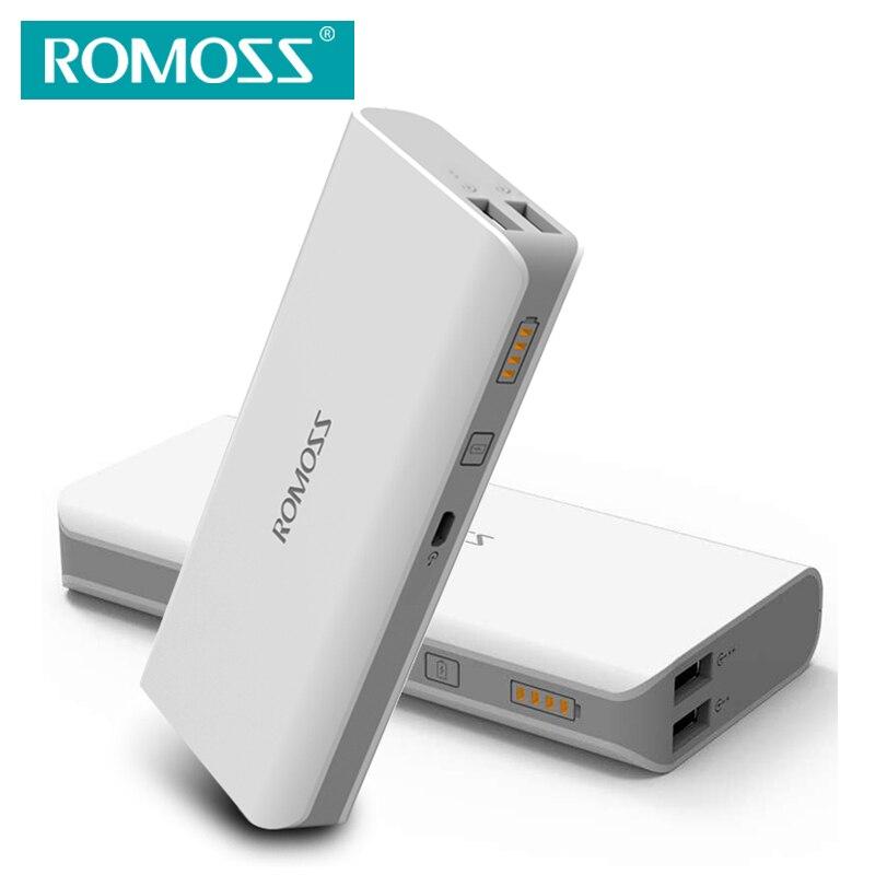 imágenes para Sentido ROMOSS 4/Sense4 Plus Paquete Externo de La Batería Banco de la Energía 10400 mAh Doble Salida USB Para Teléfonos Móviles