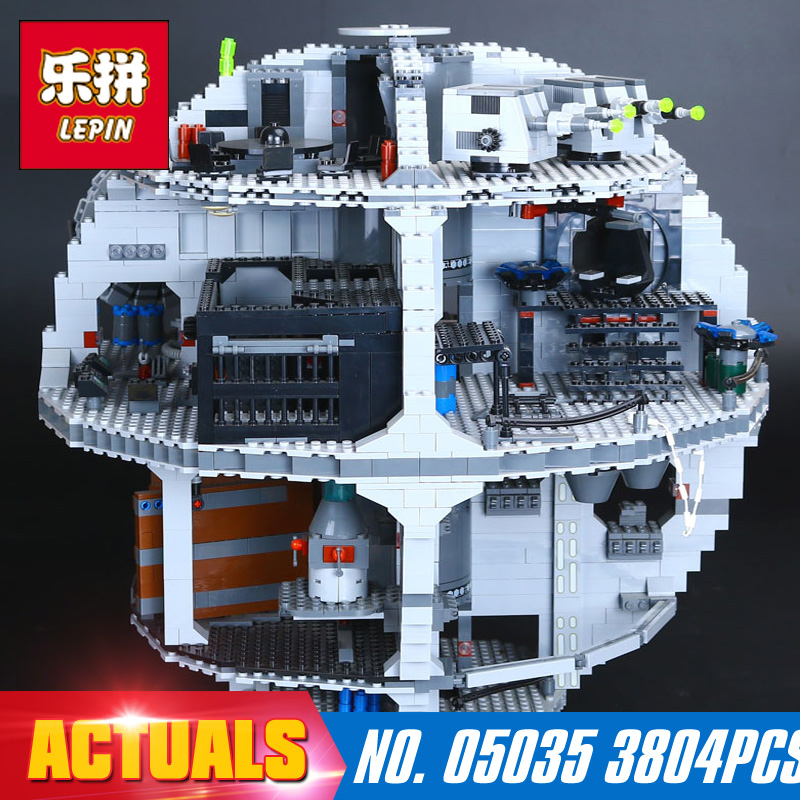 LEPIN 05035 Star Wars Death Star 3804Pcs Building Block Bricks Toys Kits Compatible with 10188 Children Educational Gift for boy 2017 enlighten city bus building block sets bricks toys gift for children compatible with lepin