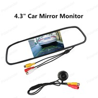 Hot Sell 4 3 Car Reverse Mirror Monitor With 170 Degree Angle Waterproof Rear View Camera