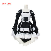 French Sexy Maid Costume Sweet Gothic Lolita Dress Anime Cosplay Sissy Maid Uniform Plus Size Halloween Costumes For Women