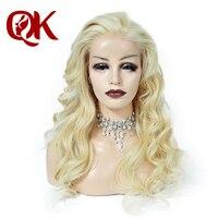 QueenKing волос 180% Плотность Европейский человеческих Волосы remy спереди кружева парики блондинка 613 волнистые бесплатная ночь доставка парики
