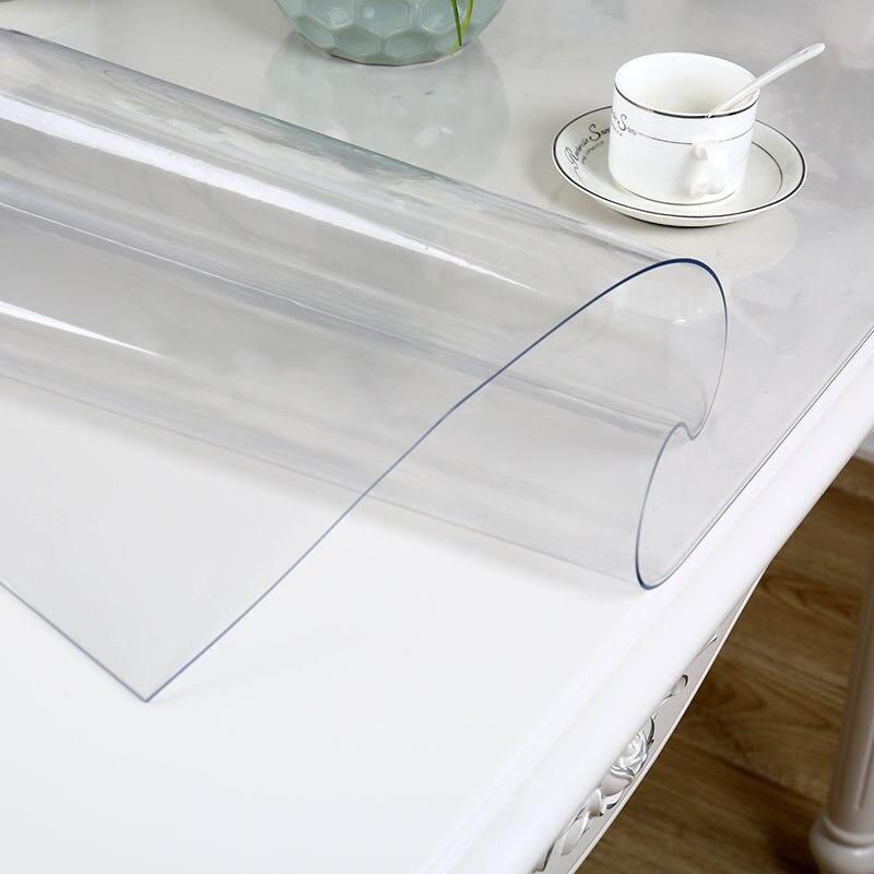 Tuve impermeable de PVC mantel transparente mantel con patrón de la Mesa de la cocina aceite de la cubierta de tela de vidrio blando mantel 1,0mm