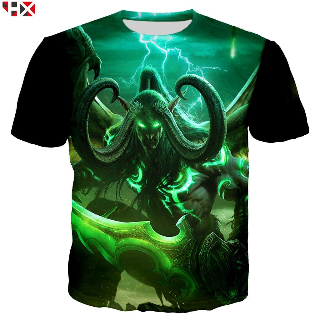 Summer Game Warcraft Women/Men T Shirt 3D Print T Shirts Asian Size S-5XL Casual Harajuku Style T Shirt Streetwear Tops X222 1