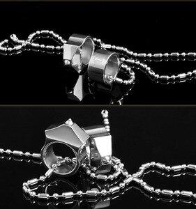 Image 3 - Wysokiej jakości stal wolframowa samoobrona dostarcza pierścień kobiety mężczyźni survivalowy pierścień bezpieczeństwa na palec z narzędziem łańcucha