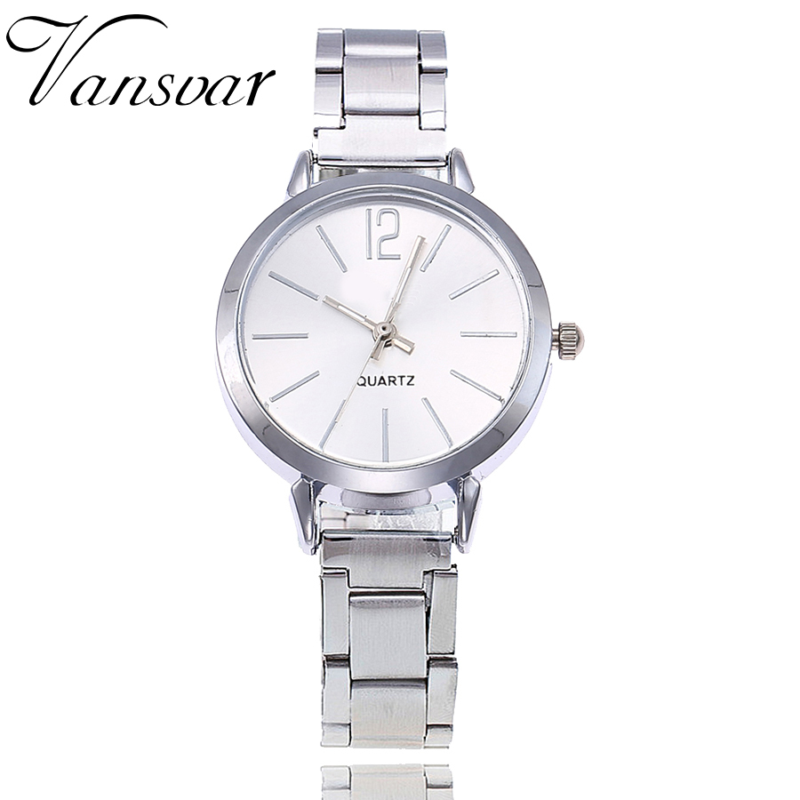 Hot Fashion Women Silver Stainless Steel Simple Watches Casual Ladies Quartz Dress Wristwatches Dropshipping new fashion stainless steel silver gold mesh watch unique simple watches casual women men quartz wristwatches clock hot sale