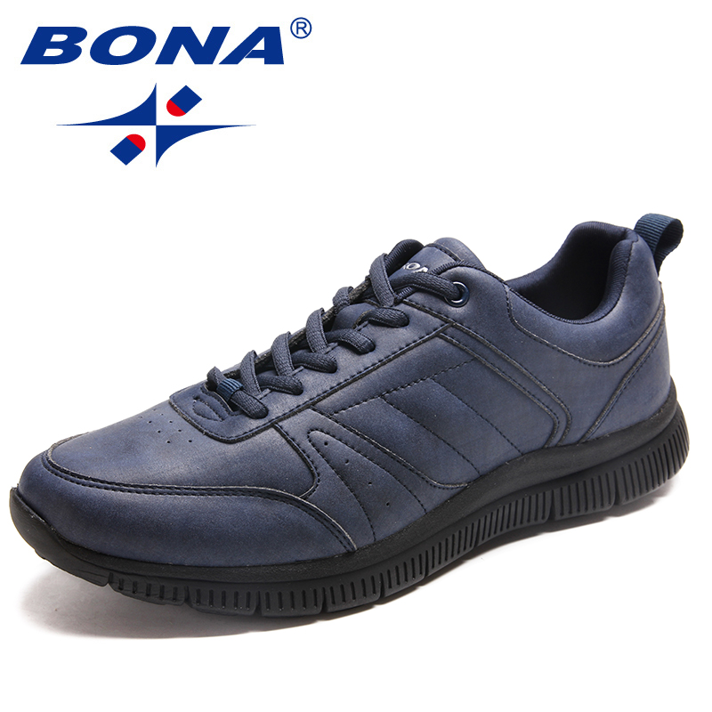 BONA New Arrival Popular Style Men Casual Shoes Lace Up Men Flats Microfiber Men Shoes Comfortable Light Soft Fast Free Shipping 3