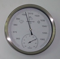 Stainless Steel Case Aneroid Barometer Hygrometer Thermometer 20cm Diameter Weather Station