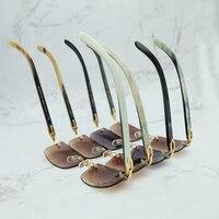 Роскошные Квадратные Солнцезащитные очки из натуральной пестрые рога буйвола мужские брендовые дизайнерские солнцезащитные очки Винтаж К