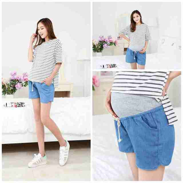 Casual Denim Shorts for Maternity