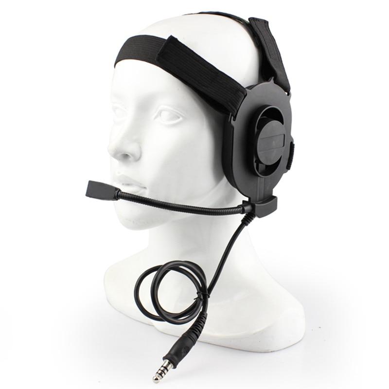 Katonai Taktikai Airsoft Paintball vadászat mesterlövész Bowman Elite III Taktikai fülhallgató mikrofonnal Teljesítsd az összes PTT dugót