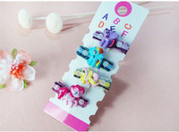 Wholesale 4 PCS Per Lot Carton Candy Color Baby Girls Hairpin 5cm BB Clips Snap Band