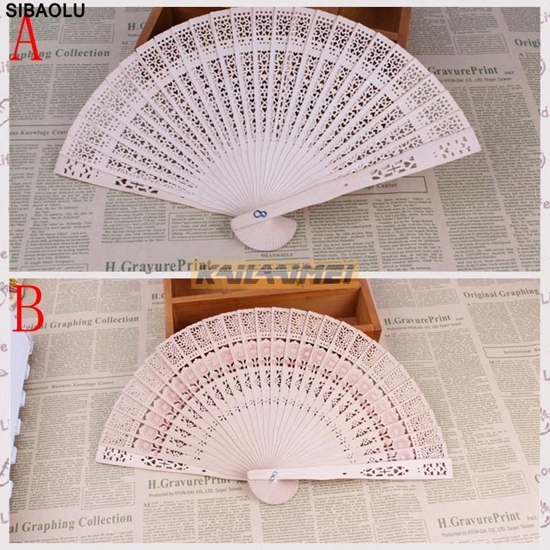 unids nueva tallada mano del ventilador plegable de madera de bamb original de estilo chino