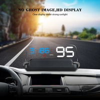 HUD Head Up Display Car GPS Speedometer Windshield Projector With Reflection Board Mirror C500 OBD2 T900 Gauge Diagnostic Tool Head-up Display     -