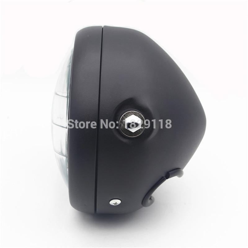 """Daymaker RPMMOTOR Negro Accesorios Motocicleta Proyector LED 6 1/2 \""""Cabeza de la Lámpara de Luz Para Harley Bobber Chopper"""