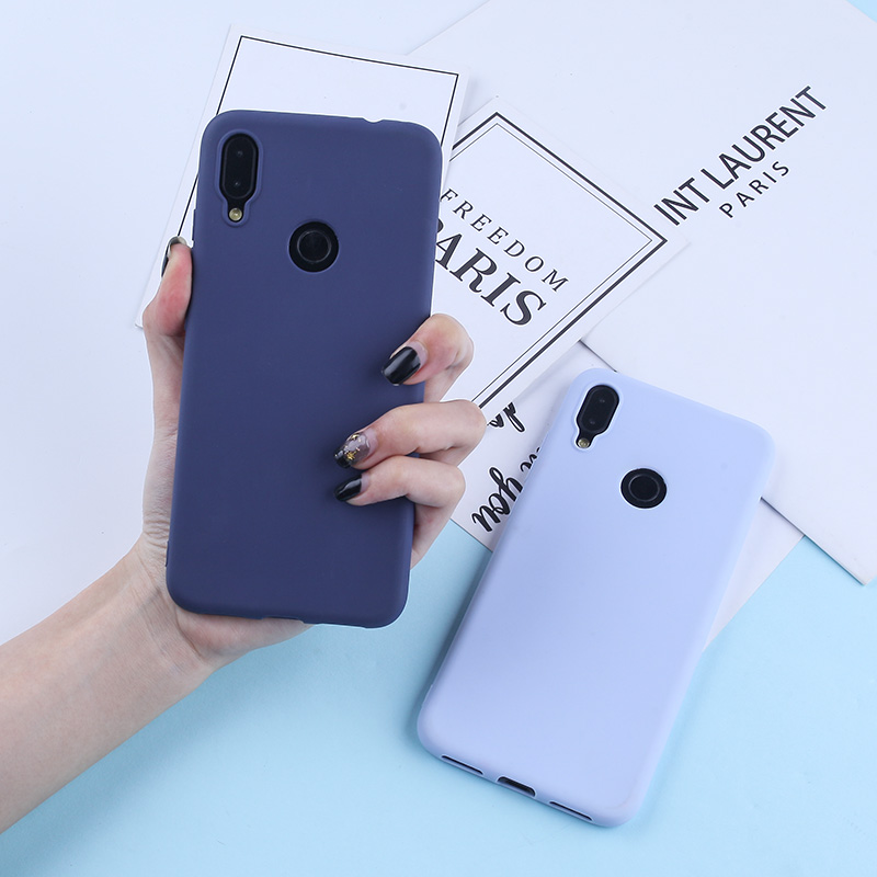 Image 2 - Solid Candy Color Case For Redmi Note 7 Cases For Xiaomi Mi 9 8 Lite Redmi Note 5A Prime Note 5 Pro 4X Luxury Cover For Redmi 4A-in Fitted Cases from Cellphones & Telecommunications