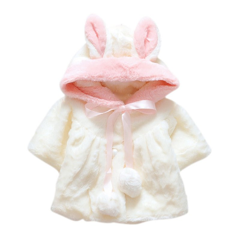 92ce459c9791 Cute Winter Baby Cloak Jacket Thick Clothes Warm Coat Kid Infant ...