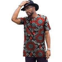 African print tops short sleeve men africa T shirt fashion africa clothing Customized traditional design dashiki