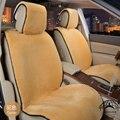 1 pcs Para Uma Frente tampas de assento do carro da pele do falso bonito carro acessórios almofada interior styling inverno new plush almofada tampa de assento do carro