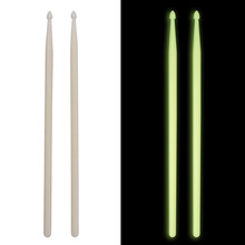One Pair of 5A Fluorescent Drumsticks Nylon Drum Sticks high quality Drum Set Accessories(China)