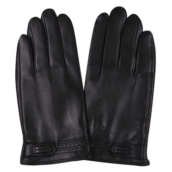 2018 Autumn And Winter MenS Sheep Gloves Warm Men Plus Velvet Thick Leather Touch Screen M17012NC-5