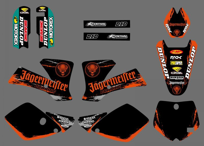 Motorcycle Team Graphic Backgrounds Decal Stiker Kits for KTM SX65 SX 65 2002 2003 2004 2005