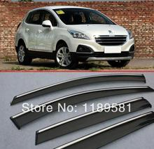 For Peugeot 3008 2008-2015 Window Wind Deflector Visor Rain/Sun Guard Vent new