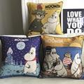 new Creative cartoon retro Cute Moomin Cushion Cartoon pillow for Office Home Cushions 45*45cm