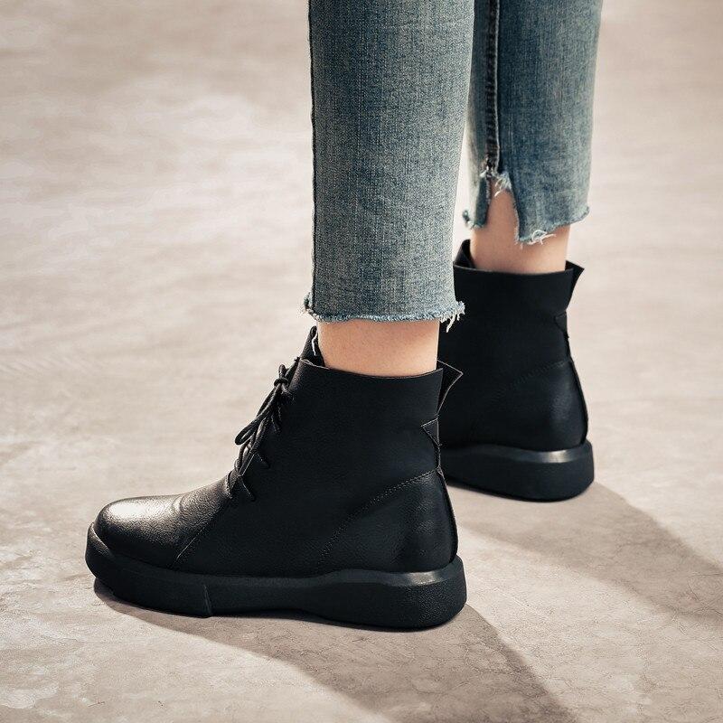 2019 donna Me alta Ankle Zipper nero di colore 67 pelliccia