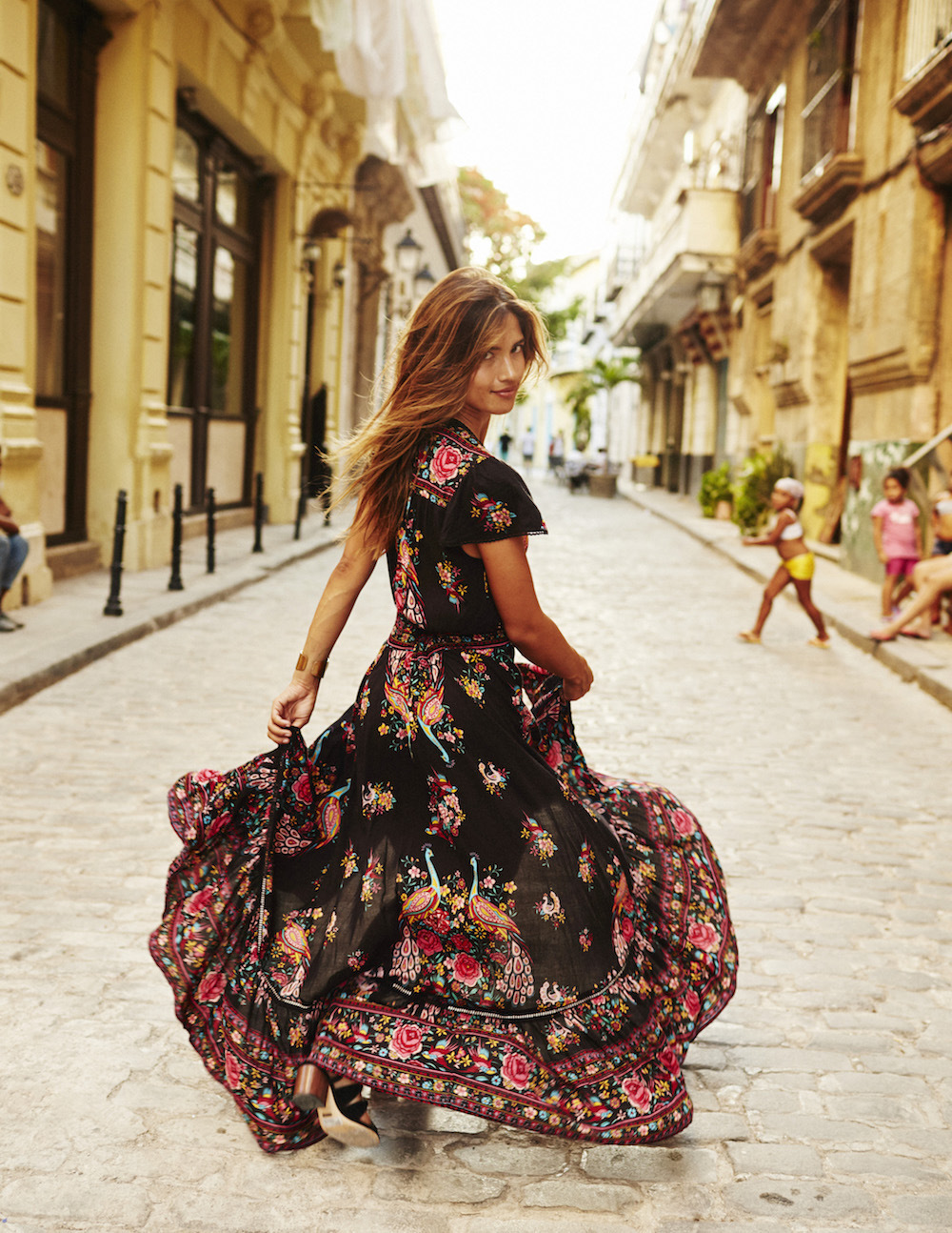 Fashion Europe and the United States new fashion sexy V-neck chiffon dress small floral floor dress and ankle skirt tassel belt