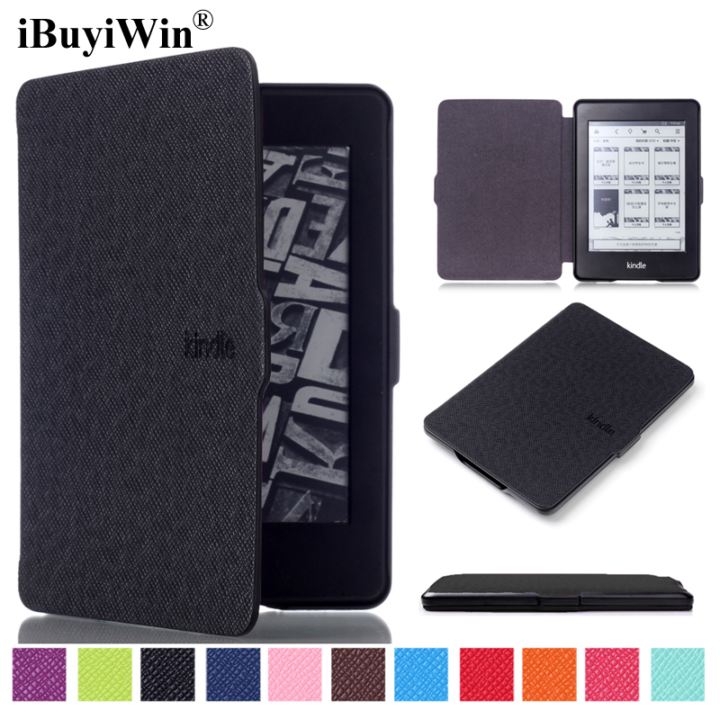 iBuyiWin Slim PU Leather Case for Amazon Kindle Paperwhite 1 2 3 6 inch eReader Cover Auto Wake/Sleep Fundas Coque Capa+Film+Pen