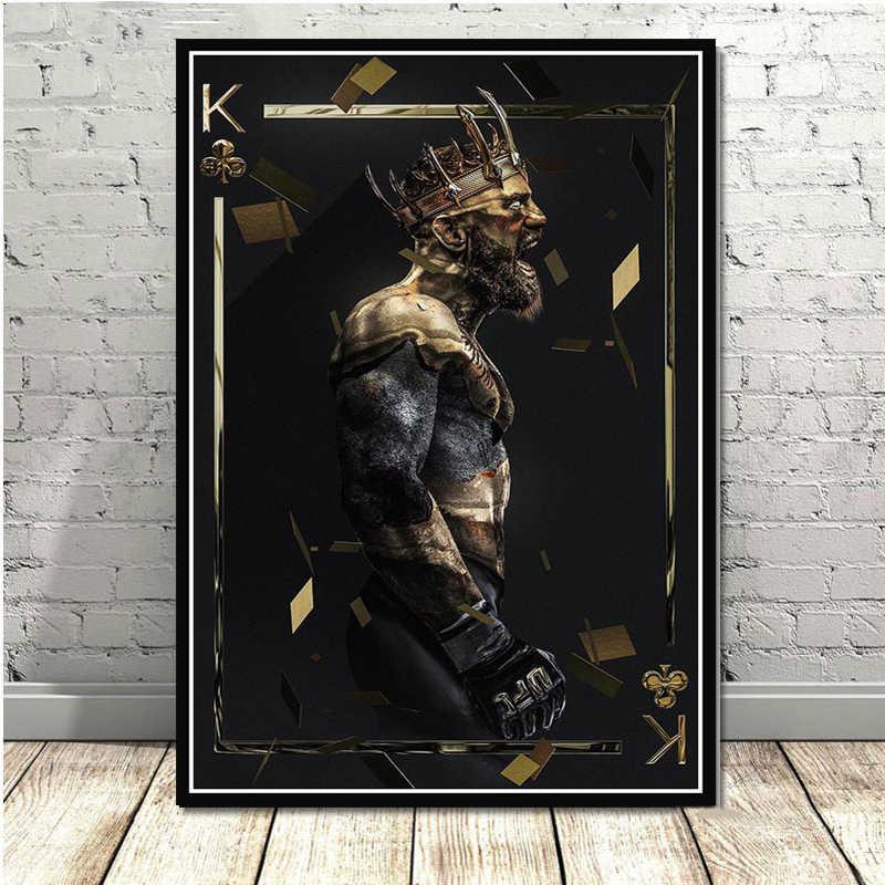 Conor McGregor UFC Boxer Art Poster della Tela di Canapa Pittura Immagine Della Parete Complementi Arredo Casa Poster e Stampe