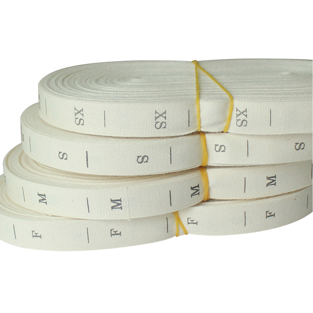 HOT SALE] rolled Beige cotton tape size labels for clothing