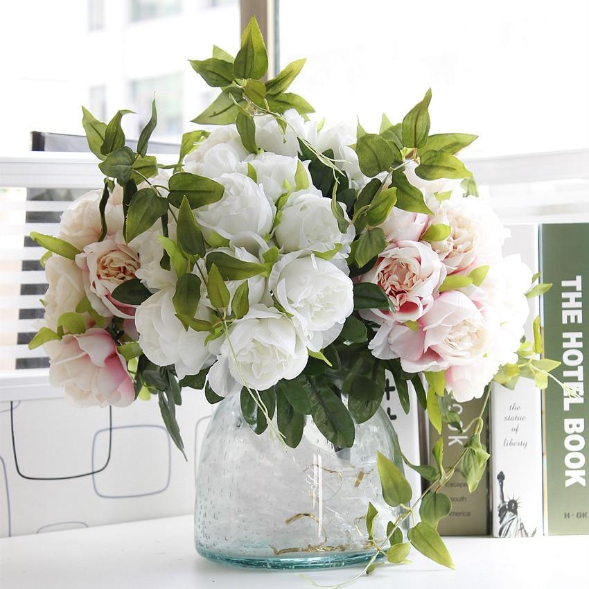 1 Bouquet DIY Жасанды гүлдер Роза Жібек - Мерекелік және кешкі заттар - фото 5