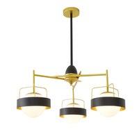 Industrial Style 1 3heads Pendant Lamps Living Room Creative Restaurants Bedroom Villas Designer Pendant Light ZA8143
