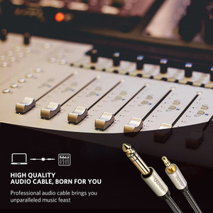Image 3 - Ugreen 3.5mm için 6.35mm adaptör Aux kablosu mikser amplifikatör CD çalar hoparlör altın kaplama 3.5 Jack 6.5 jack erkek ses kablosu