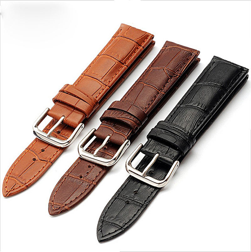 watches black brown bracelet watch straps genuine leather band watch 12mm 16mm 18mm 20mm 22mm 24mm watch Accessories