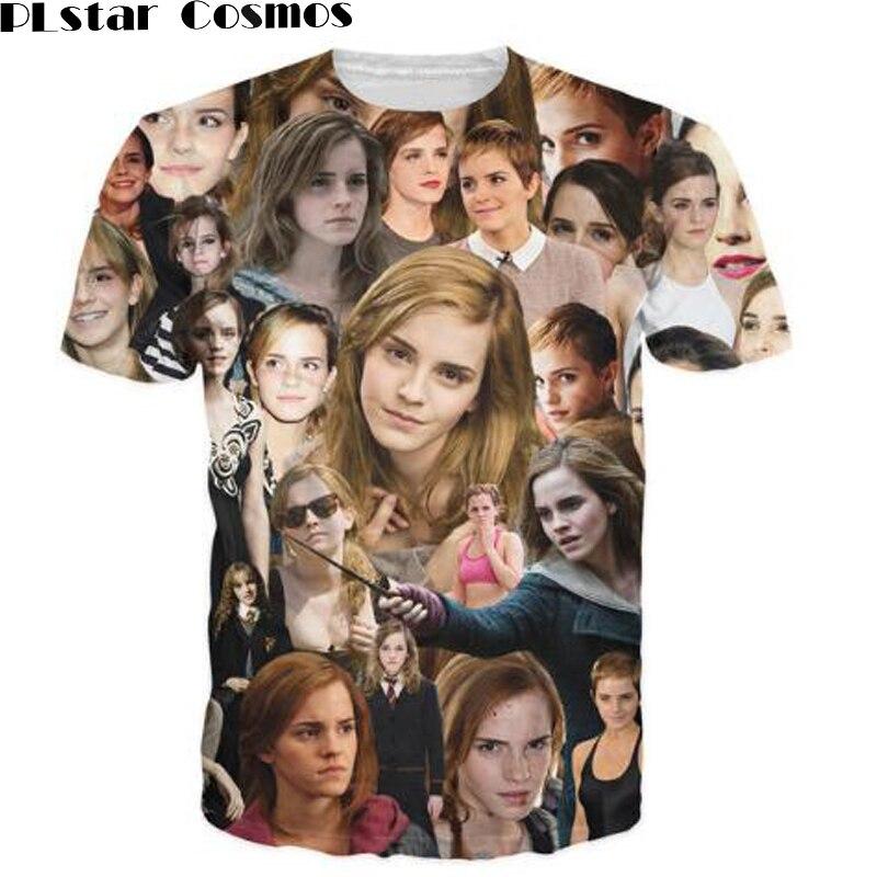 PLstar Cosmos tshirt Emma Watson Paparazzi 3d unisex T-Shirt Emma Watsons fashion Women Men Outfits Tops ...