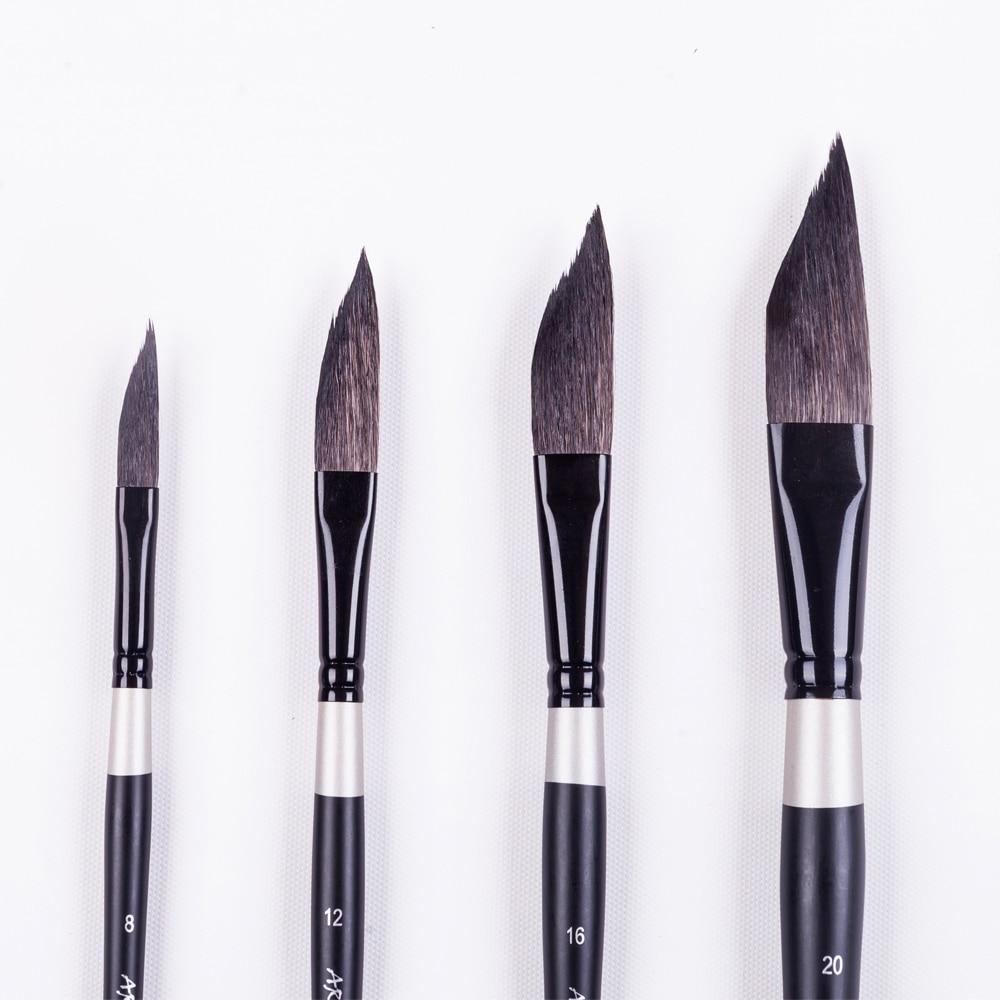 950SQ DS Series Fine Squirrel Hair Wooden Handle Watercolor brush Art Paint Brush